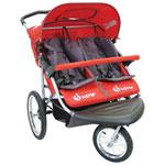 Instep Safari TT Double Stroller - Red
