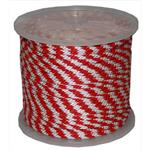 T.W. Evans Cordage 98326 .375 in. x 500 ft. Solid Braid Propylene Multifilament Derby Rope in Red and White