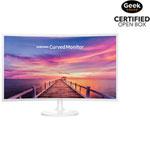 "Samsung 32"" 60Hz 4ms Curved PLS LED Monitor (LC32F391FWNXZA) - White - Open Box"