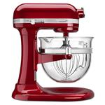 KitchenAid - 5.6 L Professional 6500 Design Series Candy Apple Red Bowl-Lift Stand Mixer (6 QT) - KSM6521XCA