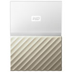 WD My Passport Ultra 2TB USB 3.0 Portable External Hard Drive (WDBFKT0020BGD-WESN) - White/Gold