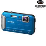 Panasonic LUMIX DMC-TS30A Waterproof/Shockproof 16.1MP 4x Optical Zoom Digital Camera- Blue-Open Box