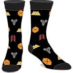 Bioworld Destiny ICONS AOP Crew Socks - Black
