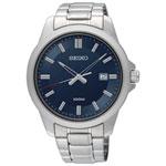 Seiko 42mm Men's Analog Dress Watch - Silver/Blue