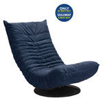 Down Low Modern Canvas Swivel Chair - Navy Blue - Only at Best Buy