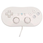 Manette pour Nintendo Wii Classic – Blanc
