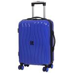 """IT Luggage Doppler 21.5"""" Hard Side 8-Wheeled Carry-On Luggage - Dazzling Blue"""