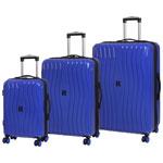 IT Luggage Doppler 3-Piece Hard Side 8-Wheeled Expandable Luggage Set - Dazzling Blue