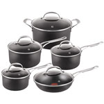 Jamie Oliver 10-Piece Hard Anodized Cookware Set - Black