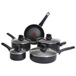 T-fal Intuition 9-Piece Aluminum Cookware Set - Black
