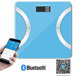 DR. HEALTH 400 lbs Wireless Bluetooth Bathroom Scale with IOS, Android App For Body weight, Fat, Water, Muscle Mass, BMI, BMR…