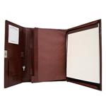 Royce Leather 750-BT-AR Aristo Padfolio File Organizer British Tan