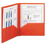 Smead Poly Two-Pocket Folder with Fasteners