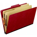Pendaflex 02601 Classification Folder T3 Red Pack Of 5