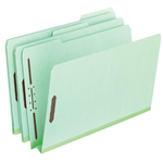 Pendaflex 17186 Pressboard Folder With Fasteners Green - Pack of 4
