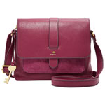 Fossil Kinley Leather Crossbody Bag - Small - Raspberry Wine