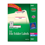 Avery Consumer Products AVE5366 Permanent Filing Labels- .33 Cut- White
