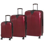 IT Luggage Excelsior 3-Piece Hard Side Expandable Luggage Set - Wine Red