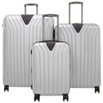 IT Luggage Excelsior 3-Piece Hard Side Expandable Luggage Set - Metallic Silver