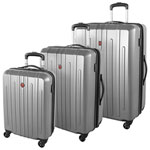 SWISSGEAR Blackcomb 3-Piece Hard Side Expandable Luggage Set - Silver