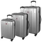 Ensemble de 3 valises rigides extensibles Blackcomb de SWISSGEAR - Argenté