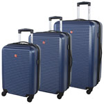 SWISSGEAR Platthorn 3-Piece Hard Side 4-Wheeled Expandable Luggage Set - Blue