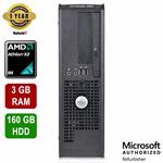 Dell OptiPlex 580 DT, AMD Athlon Dual Core, 3GB RAM, 160GB HDD, DVD-RW, Windows 10 Home, 1 Year Warranty - Refurbished