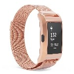 Milanese Mesh Stainless Steel Band Strap for Fitbit Charge 2 in Rose Gold