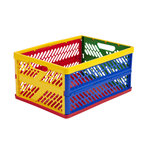 ECR4Kids Large Vented Collapsible Crate, 12 Pack