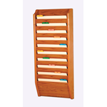 10 Pocket Legal Size File Holder Medium Oak