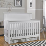 Fisher-Price Lucas 4-in-1 Convertible Cribs - Wire Brushed White