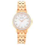Bulova 34mm Women's Analog Dress Watch - Rose Gold/Mother of Pearl