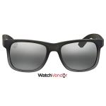Ray Ban Justin Classic Silver Gradient Mirror Square Sunglasses