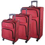 SWISSGEAR Zernez II 3-Piece Soft Side Expandable Luggage Set - Red
