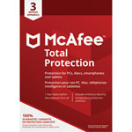 McAfee Total Protection 2018 (PC/ Mac/ Android/ Chrome/ iOS) - 3 Users - 1 Year