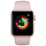 Apple Watch Series 3 (GPS) 38mm Gold Aluminium Case with Pink Sand Sport Band