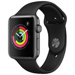 Apple Watch Series 3 (GPS) 42mm Space Grey Aluminium Case with Black Sport Band