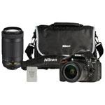Nikon D5300 DSLR Camera with 18-55mm/70-300mm Lenses, Battery & Bag