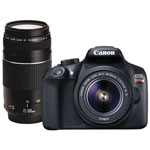 Canon EOS Rebel T6 DSLR Camera with 18-55mm/75-300mm Lenses