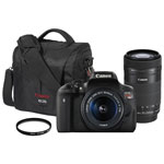 Canon EOS Rebel T6i DSLR Camera with 18-55mm/55-250mm Lenses & Accessory Kit