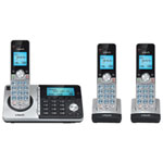 VTech 3-Handset DECT 6.0 Cordless Phone with Answering System (CS5159-3) - Silver/Black