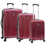 DELSEY Timor 3-Piece Hard Side Expandable Luggage Set - Red