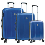 DELSEY Timor 3-Piece Hard Side Expandable Luggage Set - Blue