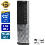 Dell Optiplex 7010, Intel Core i7, 8GB RAM, 500GB HDD, DVD, Win 10 Pro, 1 Year Warranty -- Refurbished