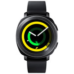 Samsung Gear Sport Smartwatch with Heart Rate Monitor - Large - Black