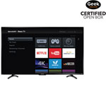 "Sharp 55"" 4K UHD HDR LED Roku Smart TV (LC-55LBU591C) - Open Box"