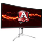 "AOC 35"" WQHD 100Hz 4ms Curved VA LED G-Sync Gaming Monitor (AG352UCG) - Black/Silver"