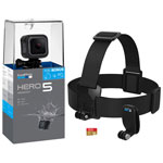GoPro HERO5 Session Waterproof 4K Sports & Helmet Camera with Head Strap & Memory Card