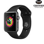 Apple Watch Series 3 (GPS) 42mm Space Grey Aluminium Case with Black Sport Band - Open Box