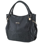 Club Rochelier Rochester Faux Leather Shoulder Bag - Black (DSCR018-Black)